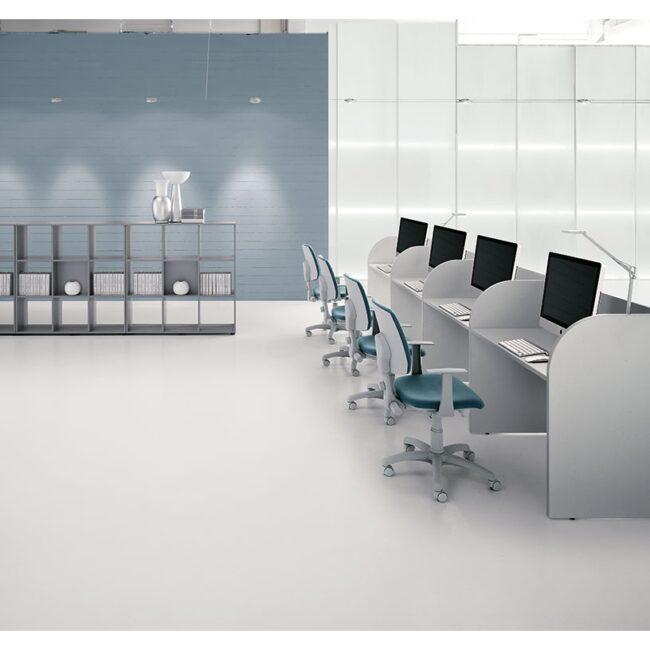 PlanOffice-srl-arredo-mobili-per-ufficio-linea-call-Center-basic-open-space-e-call-Center-open-space-tema-grigio