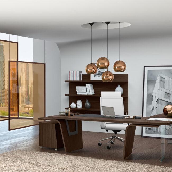 linea-Mega-mobili-direzionali-scrivania-tavolo-grande-e-libreria