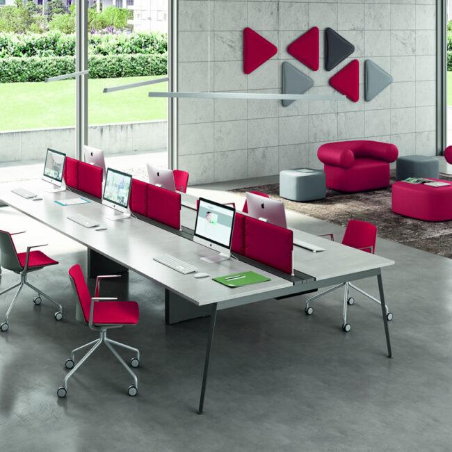 Planoffice-Arredo-per-uffici-linea-RIVA-sedie-waiting-rosso-accessori-sala-dattesa-confort-EVIDENZA