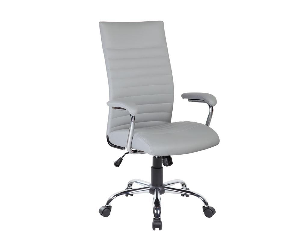 MIAMI-sedia-operativa-rivestita-pelle-grigio-schienale-confortevole