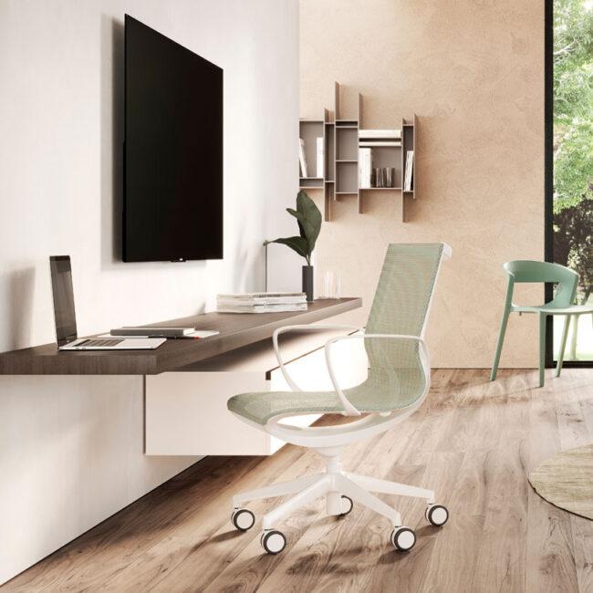 MODENA-sedia-design-moderno-verde-chiaro-ergonomica