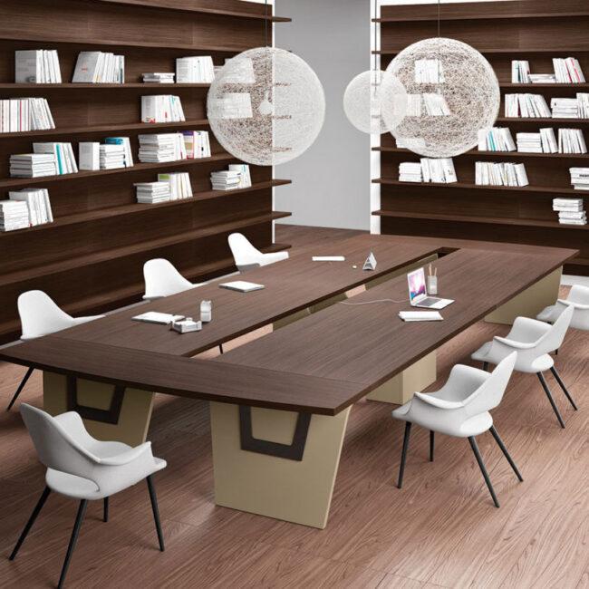 Mega-tavoli-riunione-tavolo-da-riunioni-legno-wenge-con-striscia-centrale-aperta