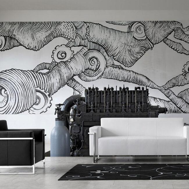 PLANET-divano-elegante-minimal-chic-nero-bianco-rivestito-pelle