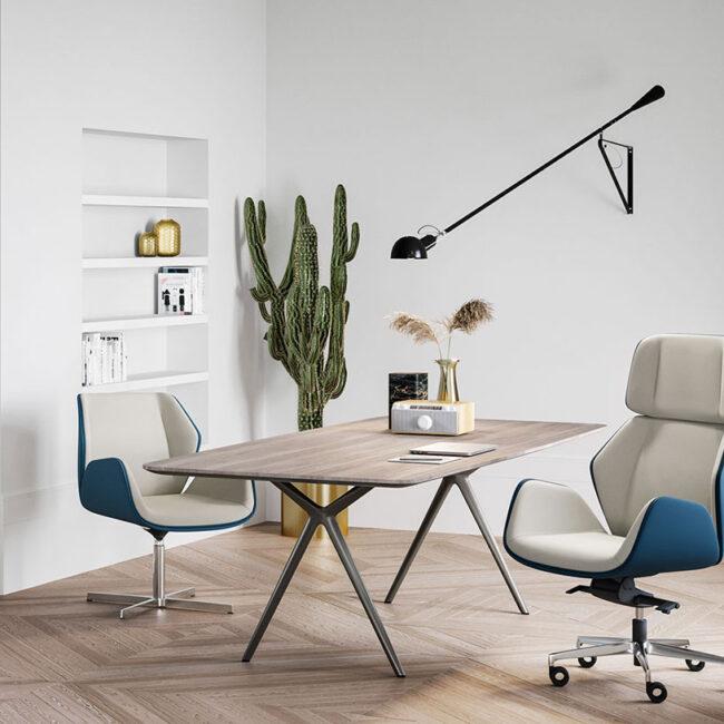 Praga-poltrons-sedia-ufficio-direzionale-pelle-Celeste-e-grigia