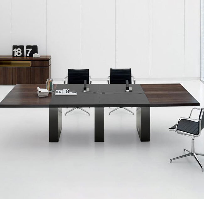 Stil-tavoli-riunione-tavolo-da-riunione-legno-e-ferro-nero