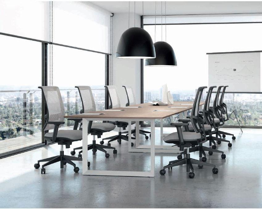 Style-Plus-tavoli-riunione-tavolo-per-conferenze-legnocon-gambe-metallo-bianco