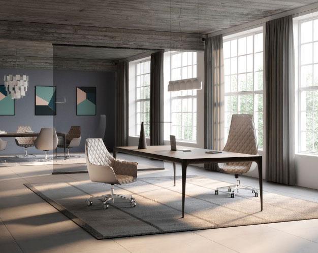 Themis-sedute-per-ufficio-sedie-executive-sedia-con-rotelle-pelle-beige
