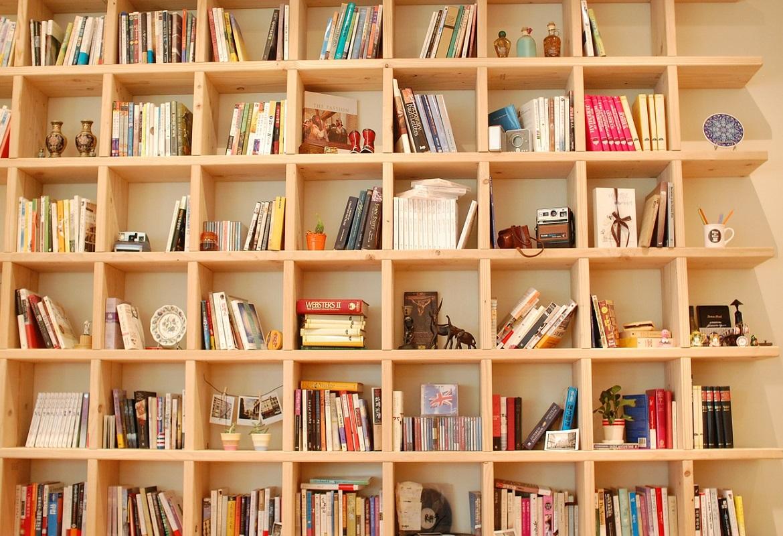 libreria a parete per ufficio