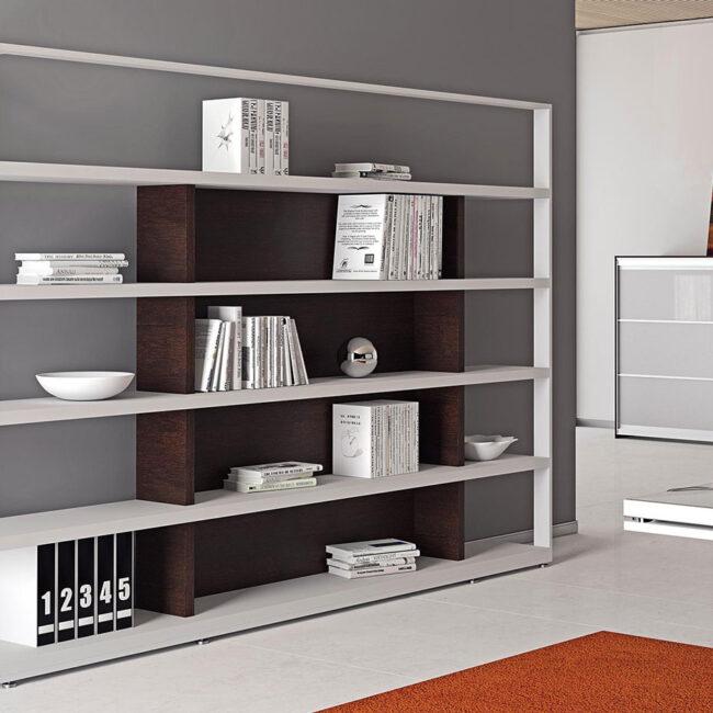 librerie-per-ufficio-collezione-Fashion-libreria-moderna-bianca-lucida