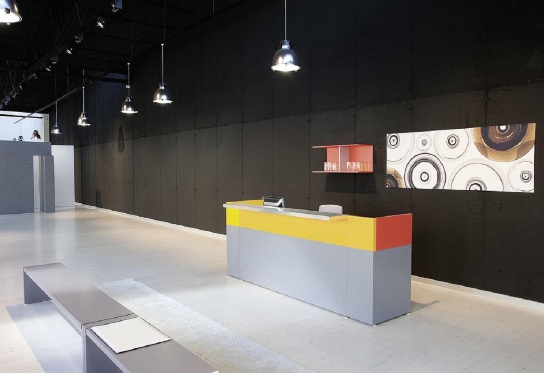arredare la reception con i mobili Reception Tec moderni e colorati