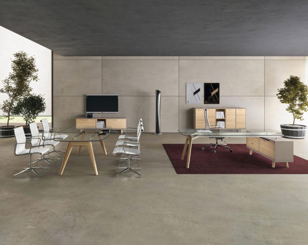 tavoli-riunione-design-ufficio-moderno-in-vetro-e-legno