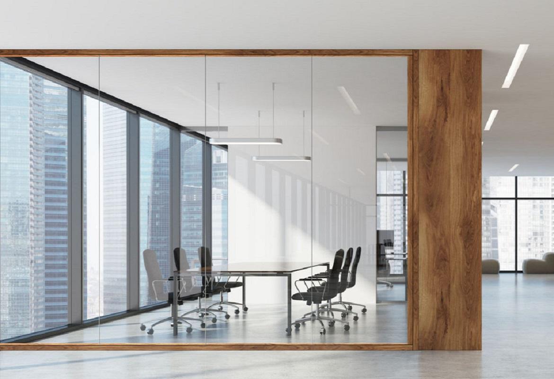 pareti in vetro divisorie per ufficio